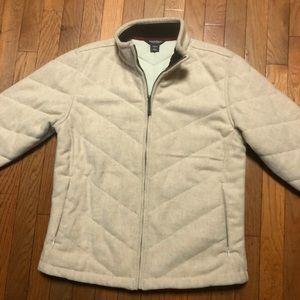 Woolrich Wool Coat Chevron Pattern Sz S